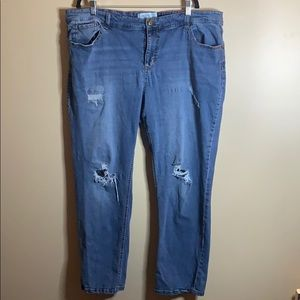 One 5 One distressed skinny jeans size 22